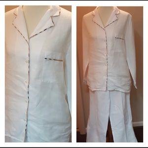 Burberry London Linen Pajama Set